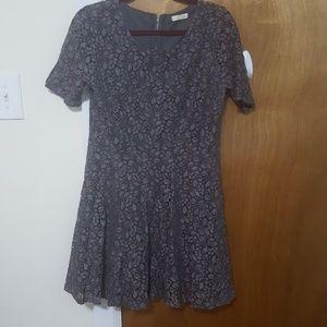 Grey lace mini dress